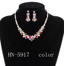 The bride adorn article the combination of luxury AAA zircon necklace and earrings, women's fashion jewelry necklace HN - 5917