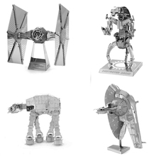 SAINTGI star wars Etching Trek Space ship 3D metal model Enterprise NCC1701 action figure DIY collection model kids toys(China)