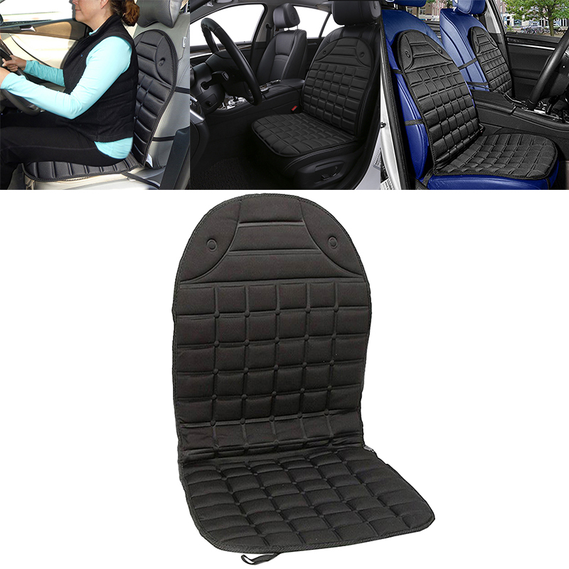 DC 12V Auto Car Seat Heated Mat Cushion Cover Heating Pad Heater Winter Warmer