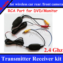 2.4 Ghz Wireless RCA port Transmitter Receiver kit for car parking camera car dvd monitor to connect the car rear view camera(China)