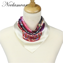 New Arrival France Euro Brand Style Women Fashion Silk Polyester Square  silk Scarf 60*60cm  Female  Ladies handkerchief