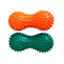 Inflatable Fitness Ball Peanut Spiky Yoga Massage Ball Hand Grip Trigger Point Massage Muscle Relaxation - Color Random