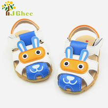 Summer Kids Shoes Boys Girls Sandals LED Light Children's Beach Shoes Toe-cap Anti-skip Unisex Shoes For Baby Boy Girl(China)