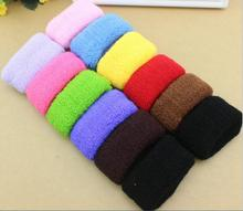 12 PCs/Bag On Sale Rubber Bands Colorful Black Elastic Hair Bands Wide Seamless Soft Ponytail Holders For Girl Women Accessories