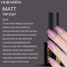 Huration Matt Gel Nail Polish Surface No Light 8ml Gel Nail Polish Transparent Color Long Lasting Matte Top Soak(China)