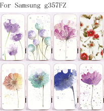 Back Cover PC Skin Luxury Phone Cases For Samsung Galaxy Ace 4 LTE G357FZ Case Beautiful Colourful Flowers Painting Style Shell