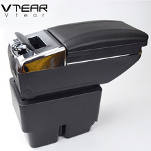 Vtear For Ford Fiesta 3 MK7 armrest box Hand switch gear center Storage box interior car-styling products accessory 2009-2014(China)