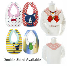 New Design Baby Bibs Bandana 18 styles 100% Cotton Double Sides Available Boys Girls Infant Newborn Saliva Towel