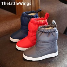 2016 winter new Fashion Snow boots foot warmer flat princess kids Waterproof cloth boys girls school shoes European style(China)