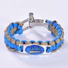 UCLA Bruins Custom Paracord Bracelet NCAA College Football Charm Bracelet Survival Bracelet,Drop Shipping! 6Pcs/lot!(China)