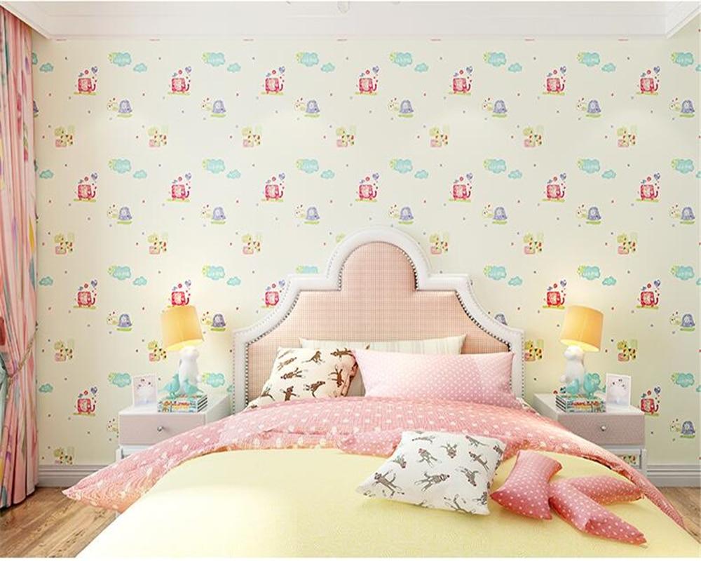 beibehang Modern Korean childrens room unwoven wall paper small animal male girl bedroom rainbow papel de parede 3d wallpaper<br>