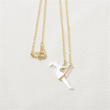 Fashion  little girl swing pendant necklace Gold-color necklaces for women  wholesale free shipping