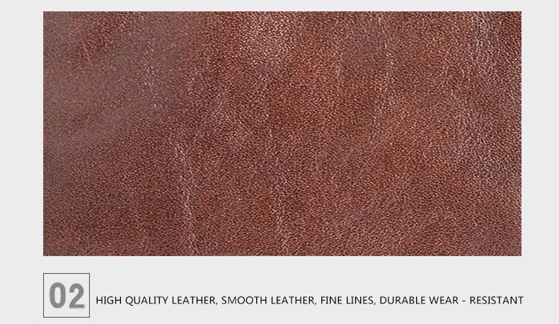 LUENSRO Wallet Leather Vintage Wallets Men Genuine Leather Wallet Zipper Card Holder Purse Long Coin Purse Money For iPhone7S (15)