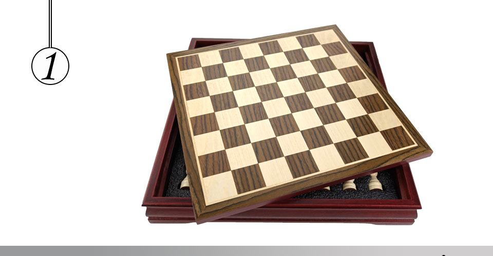 Easytoday Wooden Chess Game Set Wood Chess Pieces Short Tea Style Puzzle Chessboard Table Games High-quality (1)