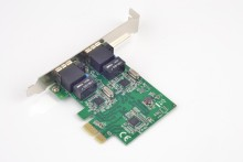 SYBA PCI-E X1 Dual Port 1000Mb Gigabit Ethernet NIC Card Chipset for Realtek RTL8111E