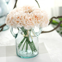 1 Bouquet 5 Head Wedding Artificial Hydrangea Flower Home Wedding Party Birthday New Year Christmas Valentines day Floral Decor(China)