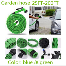 Sword tiger 2017 flexible Expandable Garden Hose reels Magic Garden Water Hose Car watering connector US/EU Blue Green+spray Gun