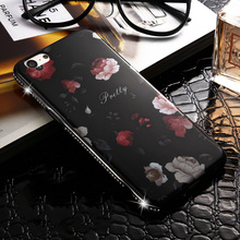 For Apple iphone 6S Case Rhinestone Bling Chic Flower Phone Back Cover Case For iphone 6 iphone6 Luxury Diamond(China)