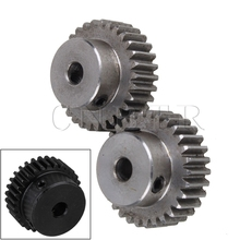 CNBTR 2 pcs 6.35mm Hole Diameter Motor Metal Gear Wheel Modulus 1 30 Teeth Steel Gear(China)