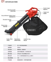 Cheaper Telescopic tube powerful 2800w electric leaf stone blower vacuum,garden home use,hand push electric blower