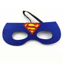 Christmas mask superman Spider Man Iron Man Batman simple Masker for kids Child Role Cosplay game Masquerade masque costume ball(China)