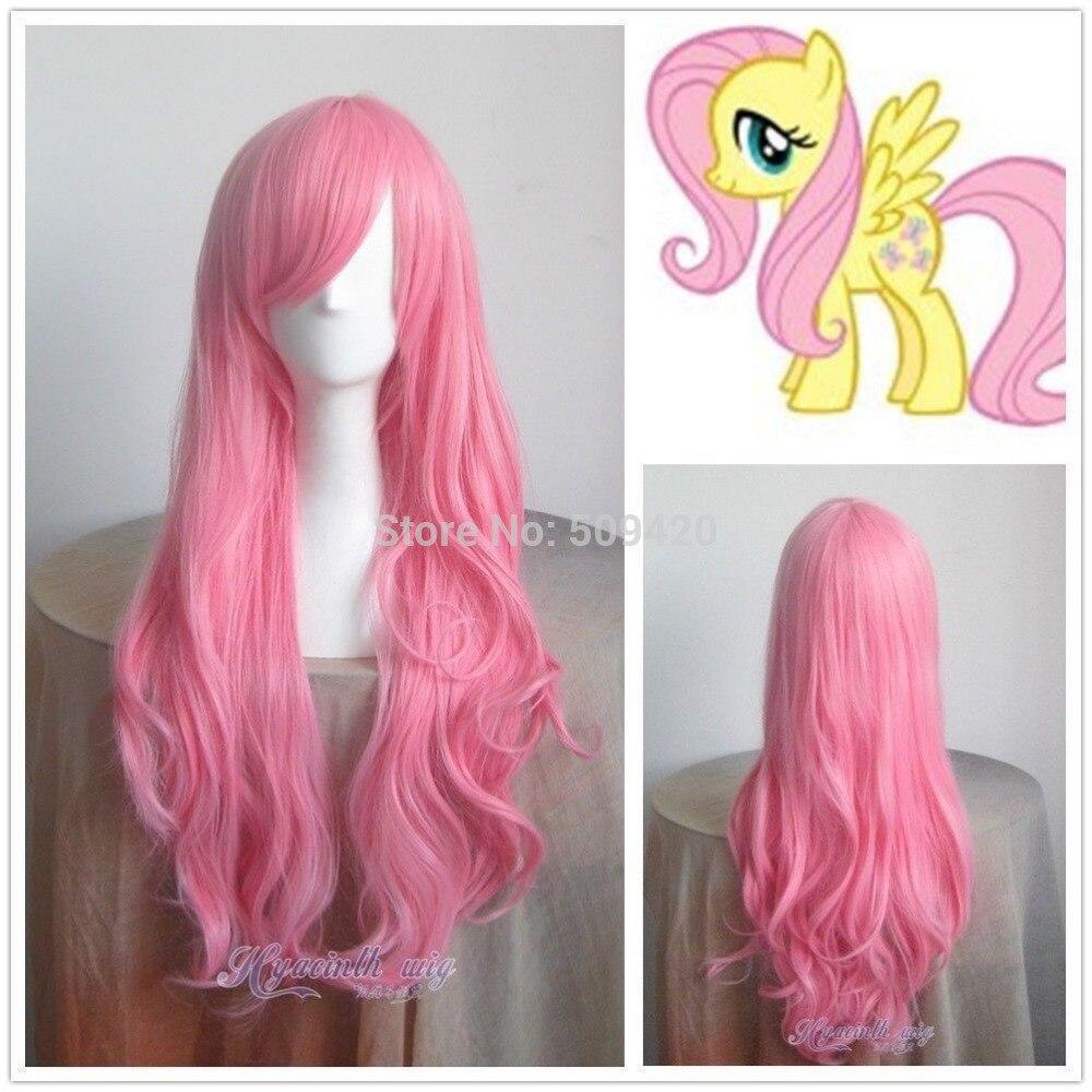 81&gt;&gt;&gt;&gt;&gt;&gt;Hot Sell ! Pony Fluttershy Long Pink Cosplay Wavy Wig<br><br>Aliexpress