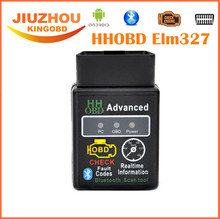 2017 New Offer Mini ELM327 V2.1 Bluetooth HH OBD Advanced OBDII OBD2 ELM 327 Auto Car Diagnostic Scanner code reader scan tool