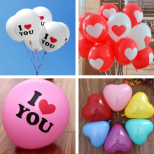 10pcs/lot Multi-Shape Balloons I Love You Red Heart shape Balloons Romantic Marriage proposal Wedding Party Decoration Supplies