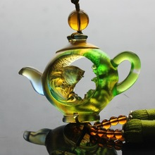 The car hanging ancient glass teapot harmony more than wealth genuine car ornaments automotive interior Collectibles