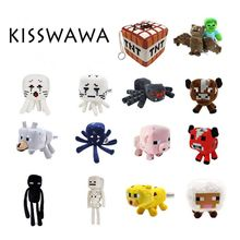 KISSWAWA Minecraft Plush Toys 16-26cm My World Zombie Ghost Doll Wolf Enderman Ocelot Stuffed Animals TNT Strange Sheep 15 style