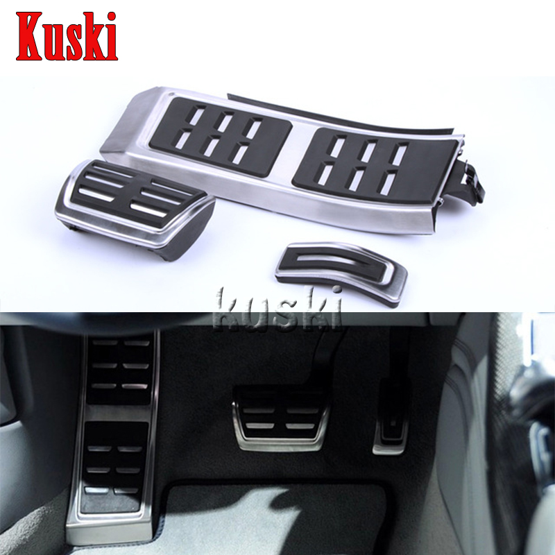 Car Styling Gas Brake Foot Fuel Pedals For AUDI S4 RS4 A5 S5 RS5 8T A6 4G S6 (C7) Q5 S5 RS5 A7 S7 SQ5 8R LHD 2009 + Accessories<br>