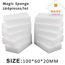 200pcs/lot white magic melamine sponge eraser kitchen cleaning sponge melamine cleaner Nano Magic Sponge Wholesale Supplier(China)