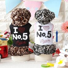 Summer Wedding Dog Dress Puppy Princess Skirt Cat Clothes for Small Dog Cute Pet Costume Leopard Printed Ropa de Perro(China)