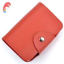 Buy 100% Genuine Leather Women Credit Card Holder Men ID Wallet Purse Vintage Bank Business Card Holder Protector Organizer for $5.99 in AliExpress store