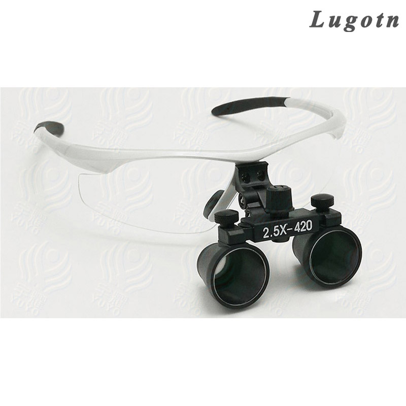 2.5X times enlargement magnifying lens loupe glasses surgical operation magnifier adjustable sizable dental loupe<br>