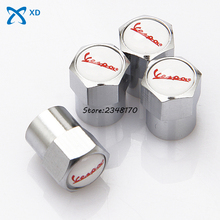 Stainless Steel 4PCS Car Wheel Tire Valves Tyre Stem Air Caps Dust Cover For Vespa 125 Monthery Sei Giorni150 GS 150 Sidecar8 50
