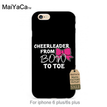 black tpu silicone Cheers Cheerleader With  Bow Fashion Luxury Fashion 3D Phone Case For iPhone se 5s 6s 7 plus case