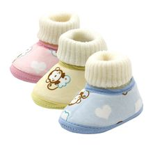 Baby Shoes Infants Crochet Knit Fleece Boots Toddler Girl Boy Wool Snow Shoes Winter Booties(China)