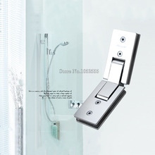 High Quality Rectangle 135 Degree Stainless Steel Glass Door Hinges Bathroom Shower Glass Clamp