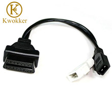 KWOKKER OBD 2 Cable For Audi/VW/Seat/Skoda 2x2 2+2 To OBD 2 16 Pin Female Diagnostic Tools Connector Cable Cord
