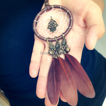 High Quality Feather Necklaces Dream Catcher Necklace Native American Indian Style Feather Dreamcatchers Necklaces Free Shipping(China)