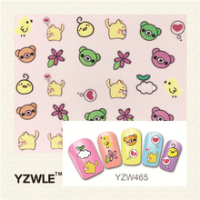 YZWLE 1 Sheet 3D Design Stylish Beauty Black Mustache Nail Stickers Nail Art Stickers Decals Decoration Accessories Tool