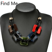 Buy Find 2018 fashion power Leather cord statement necklace & pendants vintage weaving collar choker necklace women Jewelry for $2.34 in AliExpress store