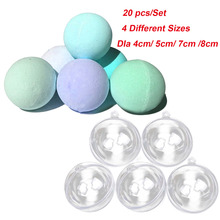 20Pcs DIY Bath Bomb Ball Shape Molds 4 Different Sizes Acrylic Balls Bathing Accessories for DIY Homemade Bath Bomb Shape Balls