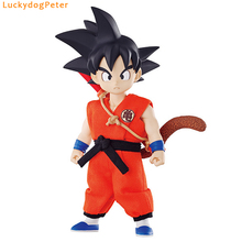 Dragon Ball Z Young Son Goku Action Figure Real Clothes Ver. Young Kakarotto Doll PVC ACGN figure Toy Brinquedos Anime 10CM