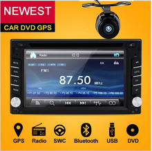 Double 2 Din Car DVD Player Monitor Car Radio GPS Auto no 3G USB BT FM RDS In Dash 2Din Car PC Stereo video Audio Camera For VW
