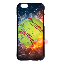 Softball in Water and Fire Case for LG iPhone 4S 5 5S 5C 6 6S 7 Plus iPod 5 6 Samsung Note 2 3 4 5 S3 S4 S5 Mini S6 S7 Edge Plus