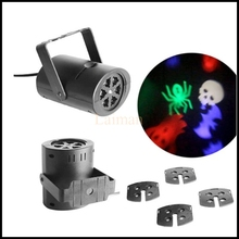 EU/US Plug Stage Light with Changeable Multi-pattern Cards LED RGBW Light Stage Light Laser Projector
