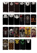 Skull Bandana Biker Hip Hop Hijab Novelty Multifunctional Seamless Variety Turban Hood Magic Headband Veil Head Scarves Face Mes