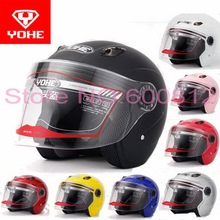 2016 summer New YOHE half face motorcycle helmet with Bluetooth stereo four seasons B203 ABS electric bicycle motorbike helmets